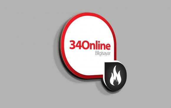 34 ONLINE Logo Tasarımı