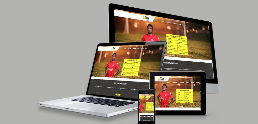 DGN Sports Management Web Site Tasarımı