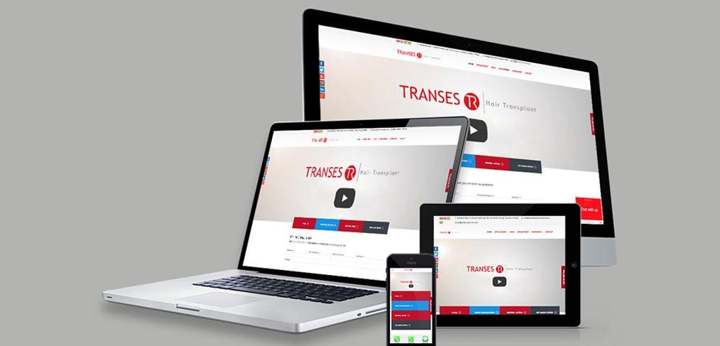 Transes Saç Ekimi Web Site Tasarımı
