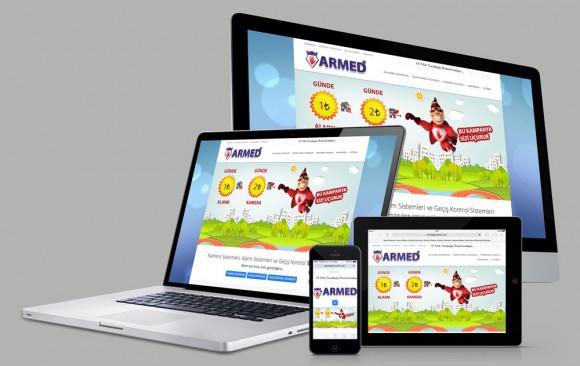 Armed Güvenlik Web Tasarımı