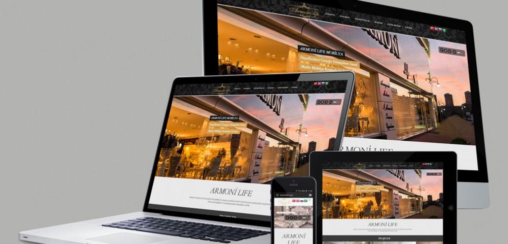 Armoni Life Web Site Tasarımı ve Mobil Optimizasyon