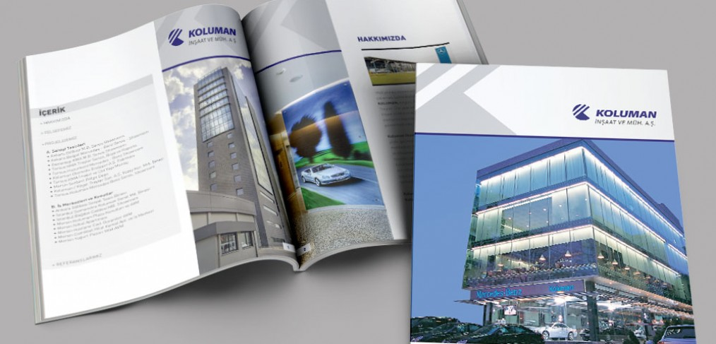 Koluman İnşaat Katalog Tasarımı