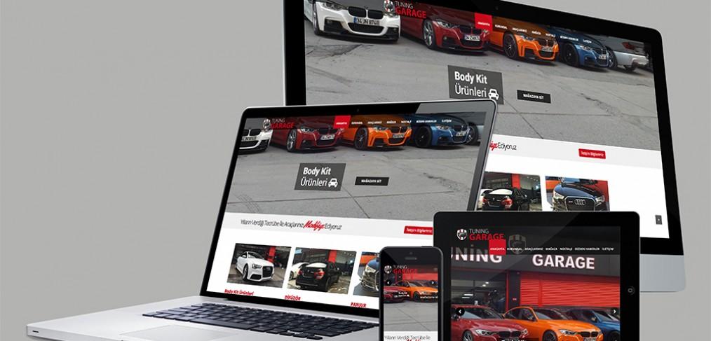 Modifiye Garaj Web Site Tasarım