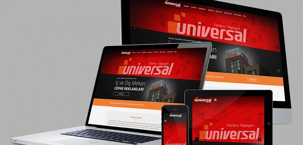 Universal Reklam Web Site tasarımı ajansımız tarafından yapılmıştır.