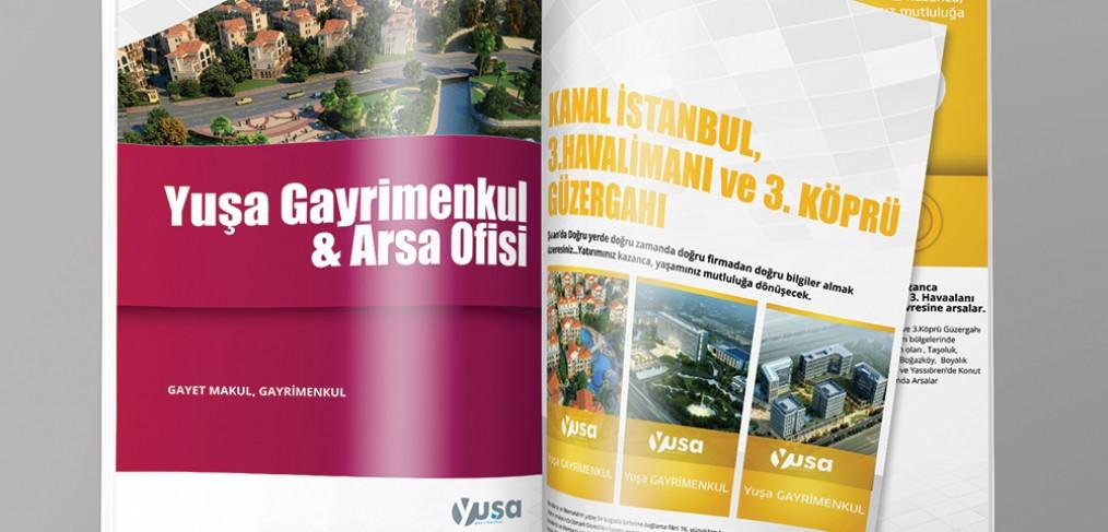 Yuşa Gayrimenkul Arsa Ofisi Katalog Tasarımı