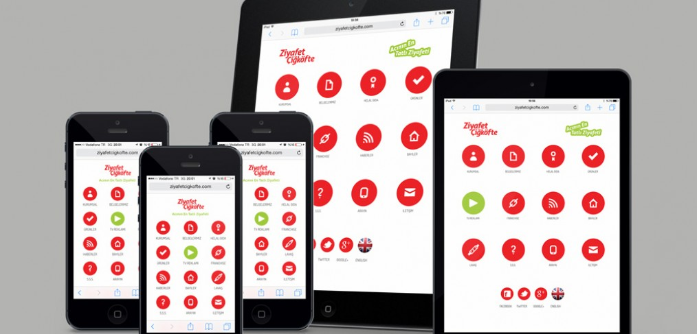 Ziyafet Çiğköfte Mobil Website Tasarımı